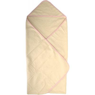 KAARSGAREN-Osuška s kapucí z biobavlny růžový okraj