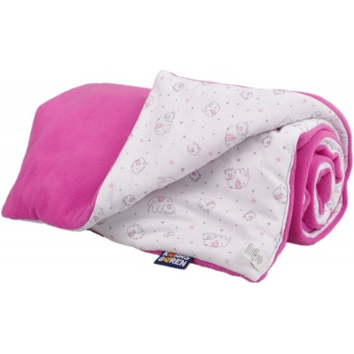 KAARSGAREN-Zateplená dětská deka růžový sloník