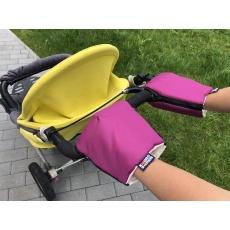 KAARSGAREN-Fialové rukavice na kočárek biobavlna