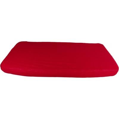 KAARSGAREN-2v1 Červené prostěradlo 200x200cm a chránič matrace