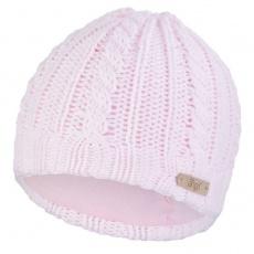 Little Angel-Čepice pletená copánky Outlast ® - sv.růžová Velikost: 2 | 39-41 cm
