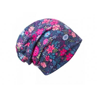UNUO-Fleecová čepice Květinky