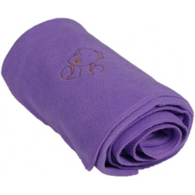 KAARSGAREN-Dětská flísová deka s pejskem fialová