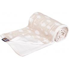 KAARSGAREN-Oboustranná bambusová deka béžová obláčky
