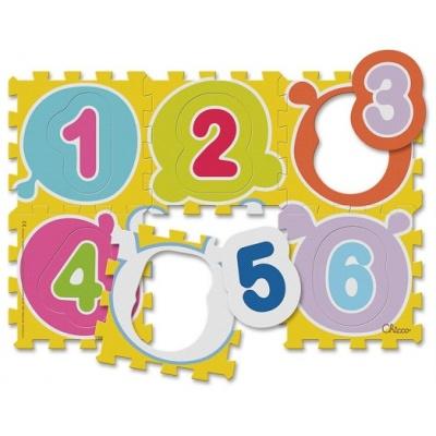 Chicco Hračka puzzle pěnové Čísla 30x30 cm, 6 ks, 12m+