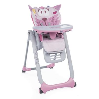 Chicco Židlička jídelní Polly 2 Start - Miss Pink