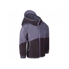 Unuo -Dětská softshellová bunda s fleecem Street, Černá, Žíhaná Antracitová