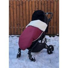 KAARSGAREN-Vínová zimní merino deka nepadací