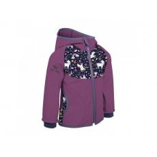 UNUO-NEW Softshellová bunda s fleecem OSTRUŽINOVÁ, JEDNOROŽCI