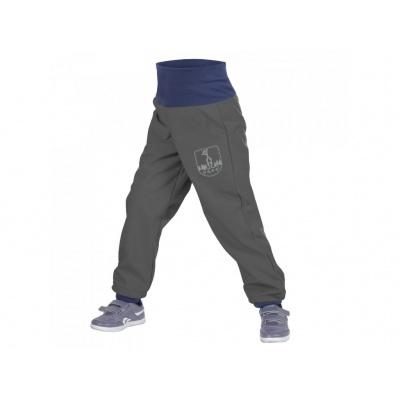 UNUO-Batolecí softshellové kalhoty s fleecem antracit+ REFLEXNÍ OBRÁZEK EVŽEN