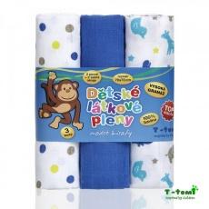T-Tomi-Látkové TETRA pleny, modré žirafy - TOP KVALITA
