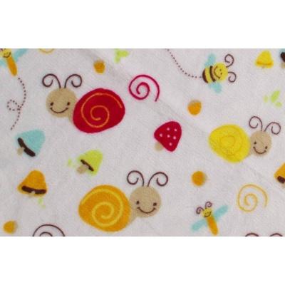 KAARSGAREN-Deka Flanell fleece bílá šnek 70x100cm