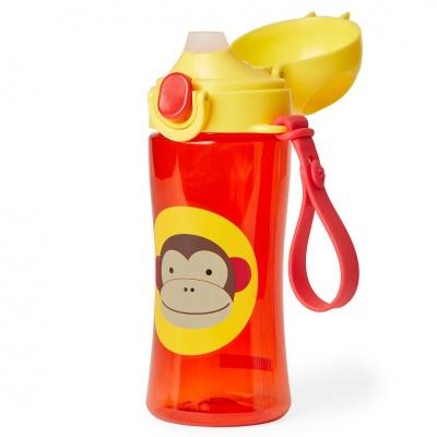 Skip Hop Zoo Láhev sportovní s uzávěrem - Opička 3+