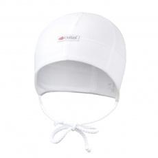 Little Angel-Čepice smyk zavazovací plochý šev Outlast® - bílá Velikost: 3   42-44 cm