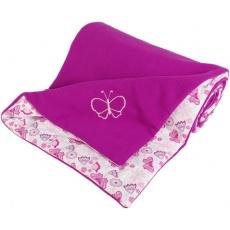 KAARSGAREN-Zateplená dětská deka ostružinová motýlci