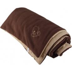 KAARSGAREN-Zateplená dětská deka hnědo béžová - doprodej