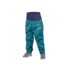 UNUO-Batolecí softshellové kalhoty s fleecem smaragdové+ REFLEXNÍ OBRÁZEK EVŽEN