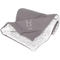 KAARSGAREN-Zateplená dětská deka šedá zajíček