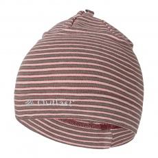 Little Angel-Čepice smyk natahovací PRUH Outlast ® - pruh pudrkhaki Velikost: 4   45-48 cm