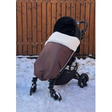 KAARSGAREN-Hnědá zimní deka merino nepadací