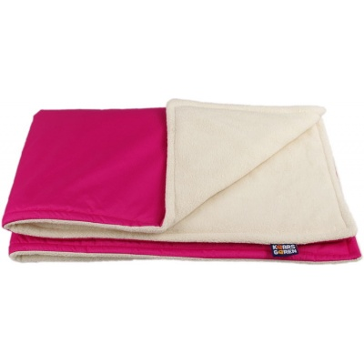 KAARSGAREN-Růžová zimní deka biobavlna beránek
