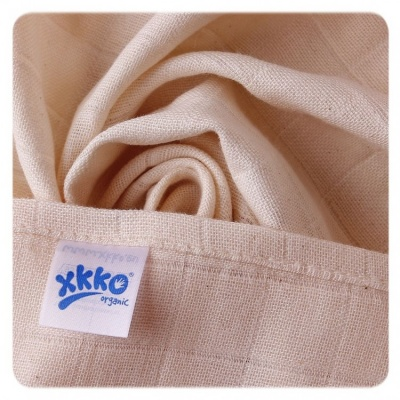 KIKKO-Biobavlněné dětské pleny XKKO Staré časy 70x70-Natural