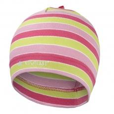 Little Angel-Čepice smyk natahovací Outlast ® - pruh růžovozelený Velikost: 3 | 42-44 cm