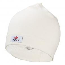 Little Angel-Čepice smyk natahovací Outlast ® - bílá káva Velikost: 4, 48-88 cm