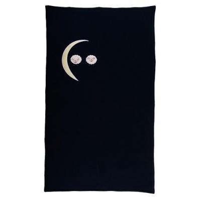 KAARSGAREN-Přikrývka zateplená se svítícíma ovečkama + polštář