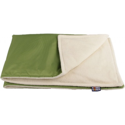 KAARSGAREN-Zelená zimní deka biobavlna beránek