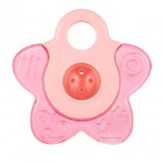 CANPOL BABIES Kousátko chladící s chrastítkem hvězdička růžová