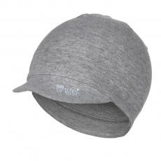 Little Angel-Kšiltovka smyk Outlast® - šedý melír Velikost: 3 | 42-44 cm