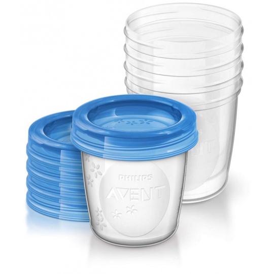 Philips AVENT VIA pohárky s víčkem 180 ml, 5 ks