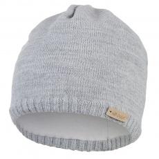 Little Angel-Čepice pletená hladká Outlast ® - sv.šedá Velikost: 4 | 45-48 cm