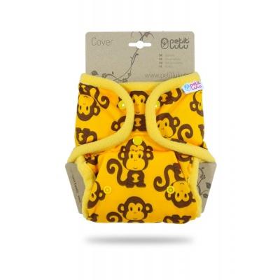 Petit Lulu-Svrchní kalhotky jednovelikostní pat-Opičky žluté