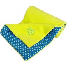 KAARSGAREN-Zateplená dětská deka limetková hvězdičky