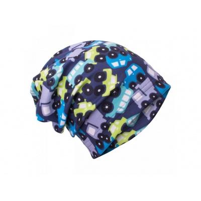 UNUO-Fleecová čepice Autíčka
