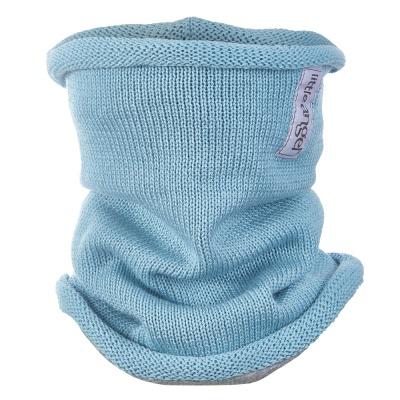 Little Angel-Nákrčník pletený tenký Outlast ® - sv.tyrkysová Velikost: 4, 45-48 cm