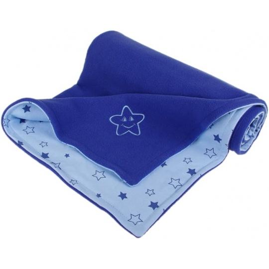 KAARSGAREN-Dětská deka modrá hvězdička fleece bavlna