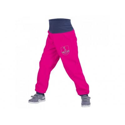 UNUO-Batolecí softshellové kalhoty s fleecem fuchsiové+ REFLEXNÍ OBRÁZEK EVŽEN