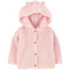 CARTER'S Svetr s kapucí a oušky Pink dívka LBB 12m, vel. 80