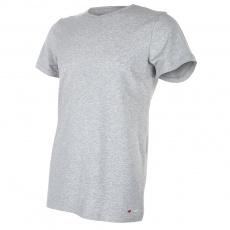 Little Angel-Tričko pánské KR tenké výstřih U Outlast® - šedý melír Velikost: M
