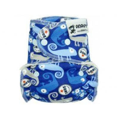 Anavy-Jednovelikostní kalhotková plenka patentkyChameleon (modrá)