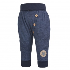 Little Angel-Tepláky harémky knoflíky - tm.modrá jeans Velikost: 68