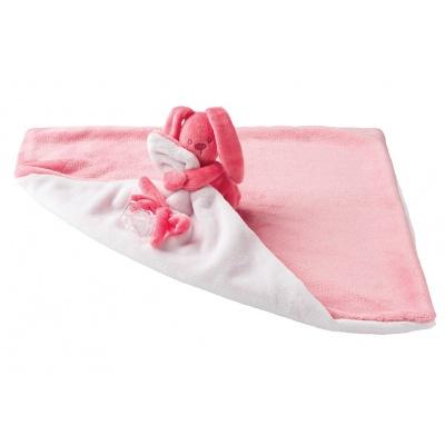 Deka plyšová s mazlíčkem LAPIDOU coral-light pink 48cm x 48cm