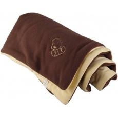 KAARSGAREN-Zateplená dětská deka hnědo žlutá - doprodej