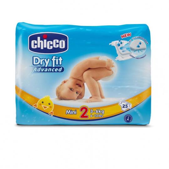 CHICCO Plenky jednorázové Mini (3-6 kg) 25 ks