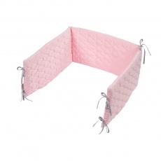 KLUPS Mantinel do postýlky 180x30 cm Velvet Pink