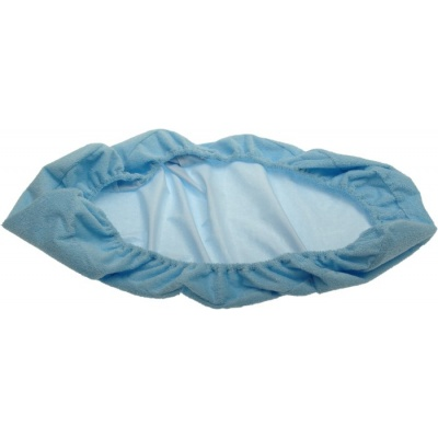 KAARSGAREN-Nepropustné prostěradlo 80x200cm modré froté bavlna