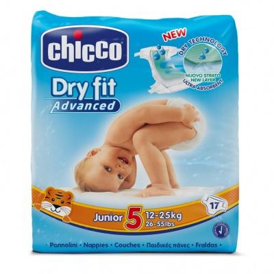 CHICCO Plenky Junior 17 ks (12-25 kg) – jednorázové pleny